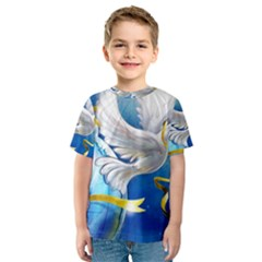 Turtle Doves Christmas Kids  Sport Mesh Tee