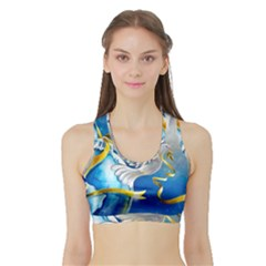 Turtle Doves Christmas Sports Bra with Border