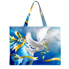 Turtle Doves Christmas Large Tote Bag