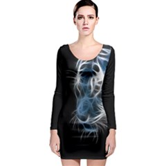 Ghost tiger Long Sleeve Bodycon Dress