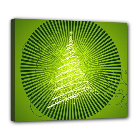 Vector Chirstmas Tree Design Deluxe Canvas 24  x 20