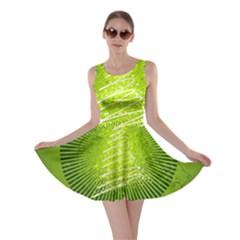 Vector Chirstmas Tree Design Skater Dress