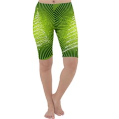 Vector Chirstmas Tree Design Cropped Leggings
