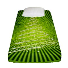 Vector Chirstmas Tree Design Fitted Sheet (Single Size)