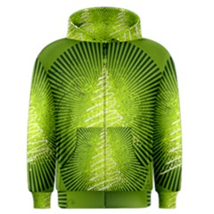 Vector Chirstmas Tree Design Men s Zipper Hoodie