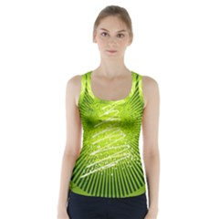 Vector Chirstmas Tree Design Racer Back Sports Top