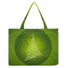 Vector Chirstmas Tree Design Medium Zipper Tote Bag