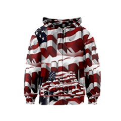 Usa America Trump Donald Kids  Zipper Hoodie