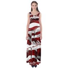 Usa America Trump Donald Empire Waist Maxi Dress