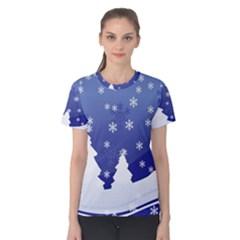 Vector Christmas Design Women s Cotton Tee