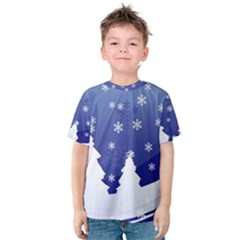 Vector Christmas Design Kids  Cotton Tee