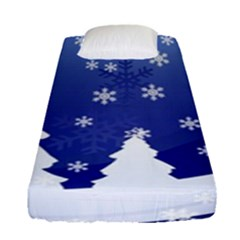 Vector Christmas Design Fitted Sheet (Single Size)