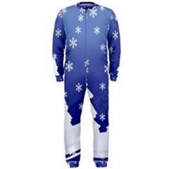 Vector Christmas Design OnePiece Jumpsuit (Men)
