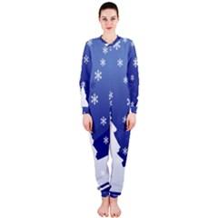 Vector Christmas Design OnePiece Jumpsuit (Ladies)