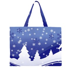 Vector Christmas Design Large Tote Bag