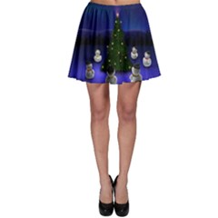Waiting For The Xmas Christmas Skater Skirt