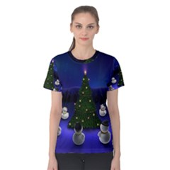 Waiting For The Xmas Christmas Women s Cotton Tee