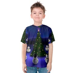 Waiting For The Xmas Christmas Kids  Cotton Tee