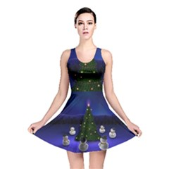 Waiting For The Xmas Christmas Reversible Skater Dress