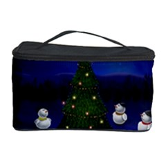 Waiting For The Xmas Christmas Cosmetic Storage Case