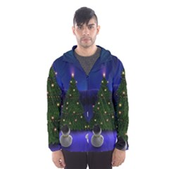 Waiting For The Xmas Christmas Hooded Wind Breaker (Men)