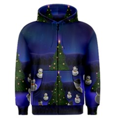 Waiting For The Xmas Christmas Men s Zipper Hoodie