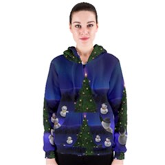 Waiting For The Xmas Christmas Women s Zipper Hoodie