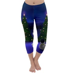Waiting For The Xmas Christmas Capri Winter Leggings