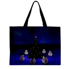 Waiting For The Xmas Christmas Zipper Mini Tote Bag
