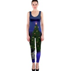 Waiting For The Xmas Christmas OnePiece Catsuit