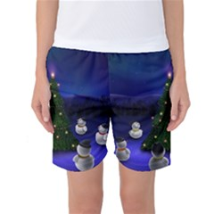 Waiting For The Xmas Christmas Women s Basketball Shorts