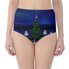 Waiting For The Xmas Christmas High-Waist Bikini Bottoms