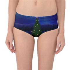 Waiting For The Xmas Christmas Mid-Waist Bikini Bottoms