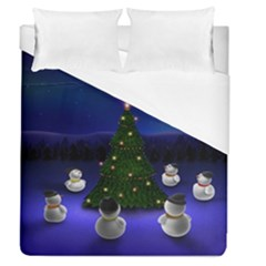 Waiting For The Xmas Christmas Duvet Cover (Queen Size)