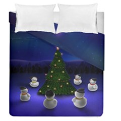 Waiting For The Xmas Christmas Duvet Cover Double Side (Queen Size)