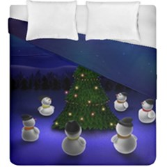 Waiting For The Xmas Christmas Duvet Cover Double Side (King Size)