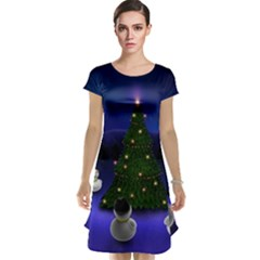 Waiting For The Xmas Christmas Cap Sleeve Nightdress