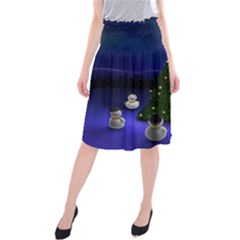 Waiting For The Xmas Christmas Midi Beach Skirt