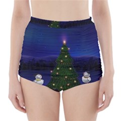 Waiting For The Xmas Christmas High-Waisted Bikini Bottoms