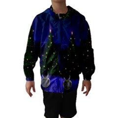 Waiting For The Xmas Christmas Hooded Wind Breaker (Kids)