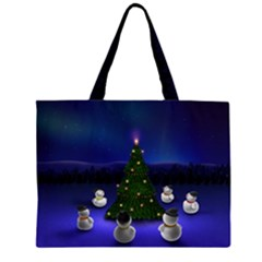 Waiting For The Xmas Christmas Large Tote Bag