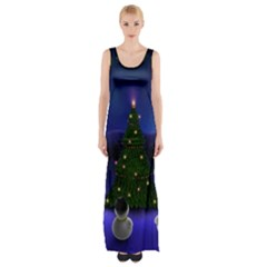 Waiting For The Xmas Christmas Maxi Thigh Split Dress