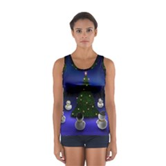 Waiting For The Xmas Christmas Women s Sport Tank Top