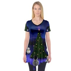 Waiting For The Xmas Christmas Short Sleeve Tunic