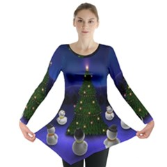 Waiting For The Xmas Christmas Long Sleeve Tunic
