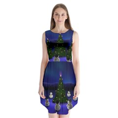Waiting For The Xmas Christmas Sleeveless Chiffon Dress