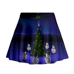Waiting For The Xmas Christmas Mini Flare Skirt