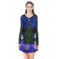 Waiting For The Xmas Christmas Flare Dress