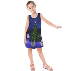 Waiting For The Xmas Christmas Kids  Sleeveless Dress