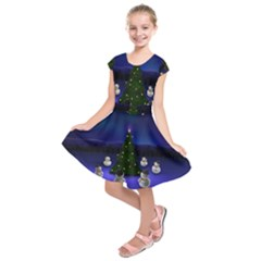 Waiting For The Xmas Christmas Kids  Short Sleeve Dress